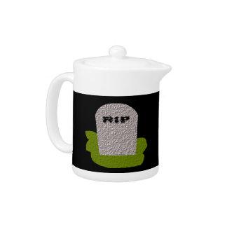 RIP Tombstone Gothic Teapot