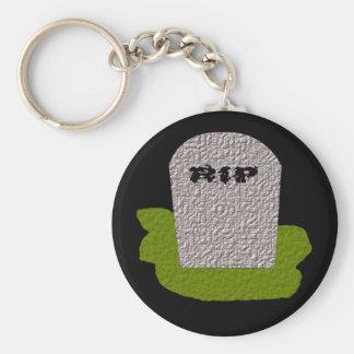 RIP Tombstone Keychain