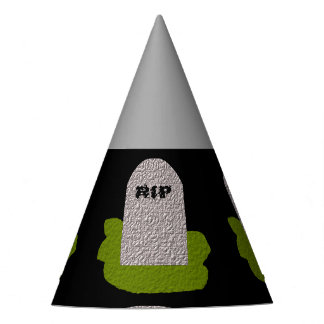RIP Tombstone Party Hat