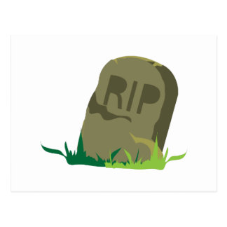 RIP Tombstone Post Card