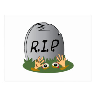RIP Tombstone Postcard