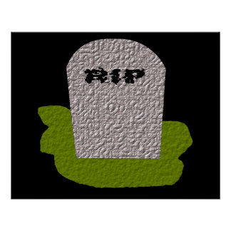 RIP Tombstone Print