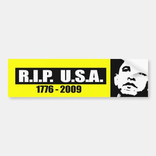 RIP USA - 1776 TO 2009 BUMPER STICKER