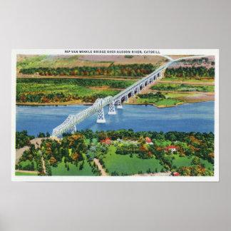 Rip Van Winkle Bridge over Hudson River Poster