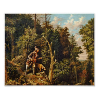Rip Van Winkle with His Hound Poster