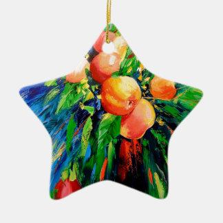 Ripe apples christmas ornament