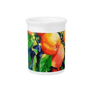 Ripe apples pitcher