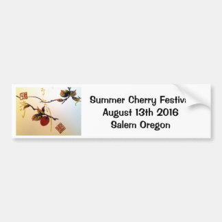 Ripe Cherry on Branch Bumper Sticker