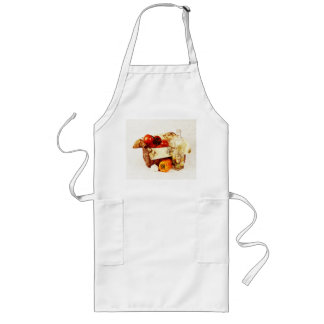 Ripe red tomatoes in a basket aprons