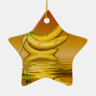 Ripe Yellow Bananas Christmas Ornament