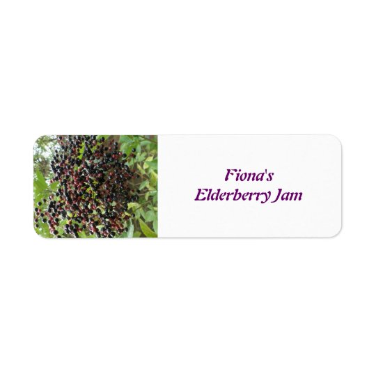 Ripening Elderberries Custom Food Labels