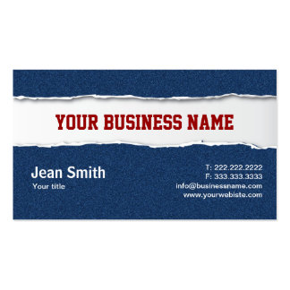 Ripped Blue Jeans Texture business card