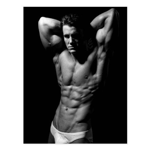 Ripped Bodybuilder Postcard