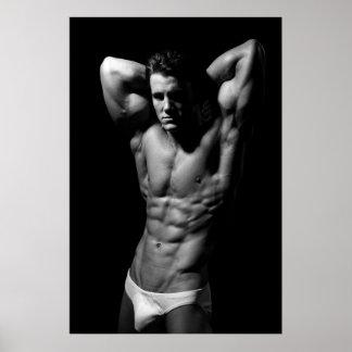 Ripped Bodybuilder Poster
