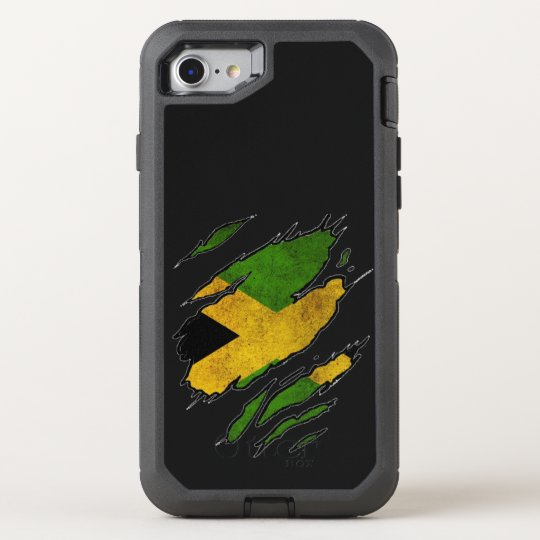 Ripped Flag of Jamaica OtterBox Defender iPhone 8/7