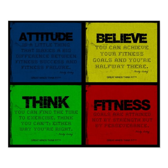 Ripped for Fitness Quotes Collage Poster
