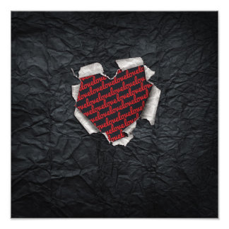 Ripped Heart Photographic Print