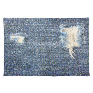 Ripped Jeans Faux Look Placemat