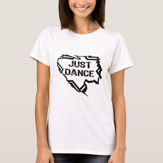 Ripped Star - Just Dance- Black T-Shirt