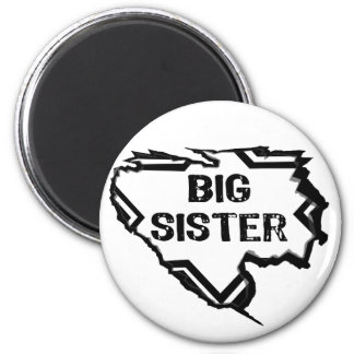 Ripped Star -Super Big Sister- Black Magnets