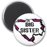 Ripped Star-Super Big Sister- Pink Magnets