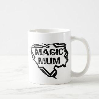 Ripped  Star- Super Magic Mum - Black Coffee Mug