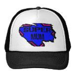 Ripped Star Super Mum - Black Text/ Pink/Purple Trucker Hat