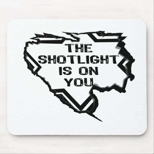 Ripped Star - You Are In The Spotlight- Black Mouse Mat