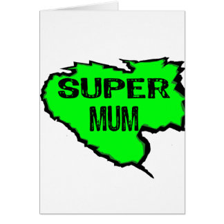 Ripped Super Mum- Green Text Black Card