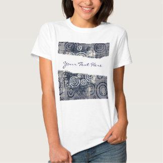 Ripped Torn Distressed Denim template text t-shirt
