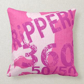 Ripper 360 50/50 Skateboard Throw Pillow Pink Throw Cushions