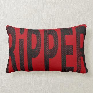 Ripper Skateboard Word Art Pillow Vintage Red/Grey Throw Cushion