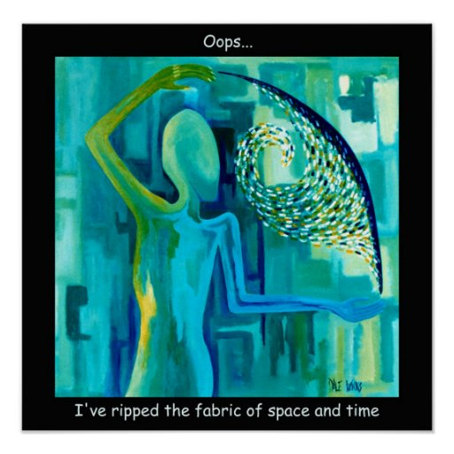 Ripping the fabric of space and time zazzle for Space and time fabric
