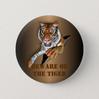 Ripping Tiger Design 6 Cm Round Badge
