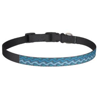 Rippled Blue Pet Collar