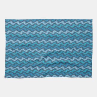 Rippled Blue Tea Towel