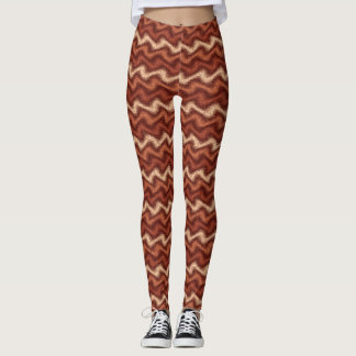 Rippled Brown Leggings