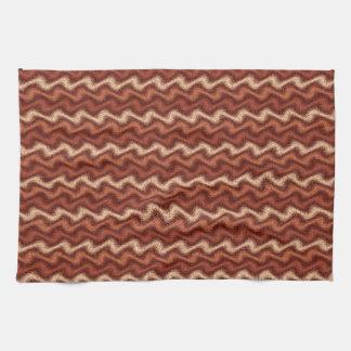 Rippled Brown Tea Towel