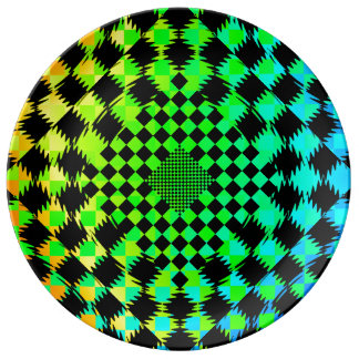 Rippled Checkers by Kenneth Yoncich Plate