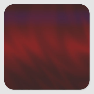Rippled Dark Red Abstract Square Sticker