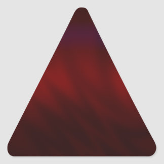 Rippled Dark Red Abstract Triangle Sticker