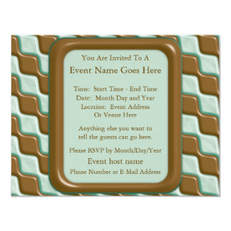 Rippled Diamonds - Chocolate Mint 4.25x5.5 Paper Invitation Card