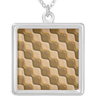 Rippled Diamonds - Chocolate Peanut Butter Pendants