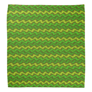 Rippled Greens Bandana