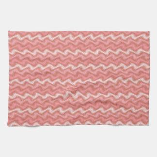 Rippled Pink Tea Towel