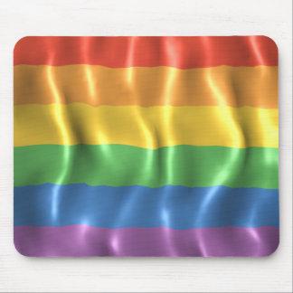 Rippled Pride Flag Mouse Mat