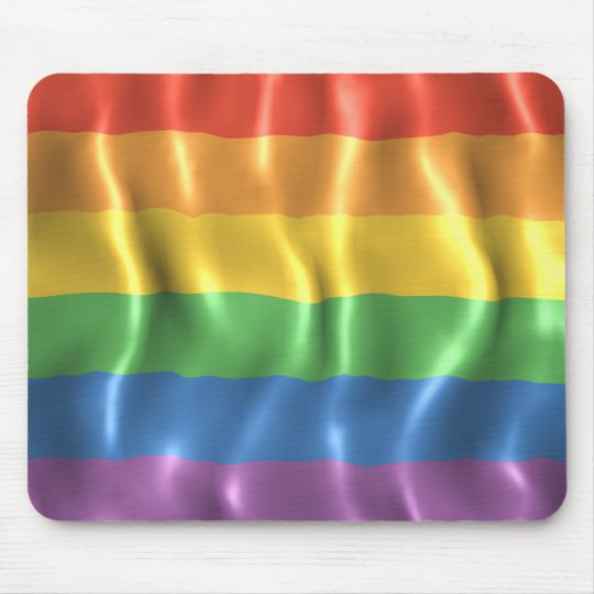 Rippled Pride Flag Mouse Mat