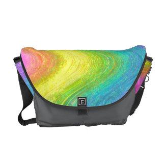 """Rippled Rainbow""  (Version C) Courier Bag"