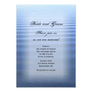 Rippled Water Beach Wedding Invitation