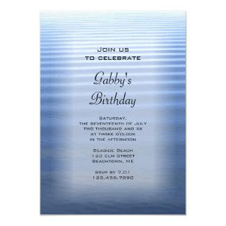 Rippled Water Birthday Party Invitation